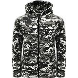 Game Kids Digital Camo Urban Zip Hoody | Army Camouflage Hooded Zip Top