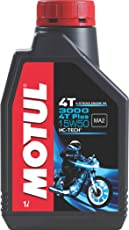 Motul 3000 4T Plus 15W50 API SM HC Tech Engine Oil for Bikes (1 L)