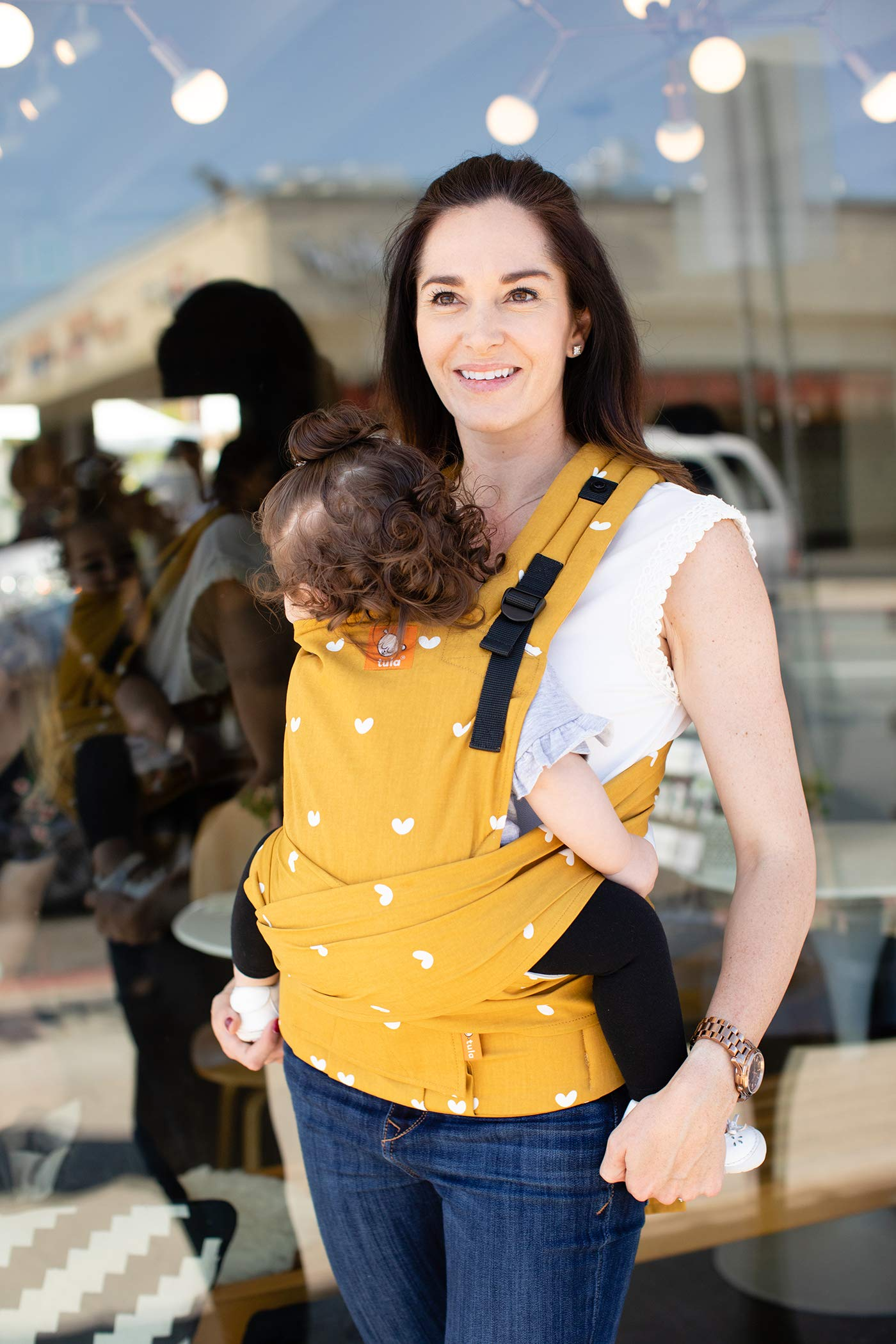 Tula Half Buckle TBCA5G1 Play - Asian Inspired Hybrid Baby Carrier with Padded Shoulder Straps with Crossover Option for Babies 3 2 to 20 4 kg Tula Multiple door positions: front inward, hip and back EASILY ADJUSTABLE DESIGN: Main panel with adjustable height and width, allowing for ergonomic and tight positions as baby grows. For babies from 3, 2 to 20, 4 kg Its long fabric straps wrap around the body allowing for the perfect fit. 3