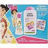 Corine De Farme | Princesses Coffret Cadeau | Disney| Parfum Enfant 30ml | Gel Douche Enfant 250ml | Bracelet Enfant |Barrett