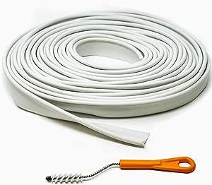 Kai Range Ltd Weiß Kederschienenschutzband 12m Mit Reinigungsbürste Für Kederschiene Auto