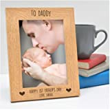 PERSONALISED 1st Fathers Day Gifts for Dad, Daddy, Grandad, Him - First Fathers Day from Baby Son, Baby Daughter, Little…