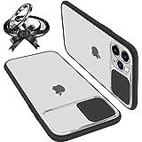 UNIOTEK Funda con Tapa Deslizable para Cámara Compatible con iPhone 11 Pro Funda Protectora Antigolpe Carcasa PC y Silicona T