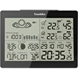 Youshiko YC9360 Digital Weather Station with Radio Controlled Clock ( Official UK Version ), Indoor Outdoor Temperature…