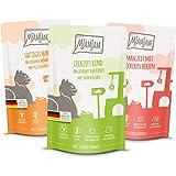 MjAMjAM Mangime Umido per Gatti, Mix Pack i 4 Pollo, 4 Bovino, 4 Cuore, senza Cereali - Pacco da 12 x 125 g