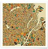 JUNIQE® Poster 20x20cm Stadtpläne Kopenhagen - Design