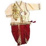 Jinie Baby Boy's Silk Cotton Blend Embroidered Dhoti Kurta Pyjama (Multicolour, 6-12 Months)