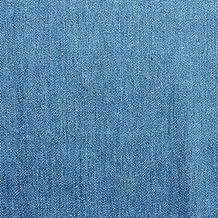 Pre-lavado tela de vaquera, denim para blusas/camisas (3,5 oz), azúl claro, por metro