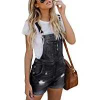 Dearlove Womens Jeans Shorts Jumpsuits Washed Ripped Denim Playsuits Dungaree with Pockets Lihgt Blue