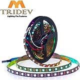 MY TRIDEV (TM 5m/16.4ft WS2811 LED Digital Strip LED Pixel Strings DC12V 300LEDs 100ICs 5050 RGB Addressable Not Waterproof B