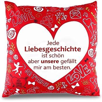 Valentinstag Kissen Kissenbezug Sofakissen Zierkissen