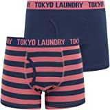 Tokyo Laundry Mens Striped Twin Pack Boxer Shorts