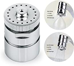 EcoEnvironment Water Saving Aerator Dual Mode Nozzle for Taps of Kitchen and Bathroom Sink (Chrome)