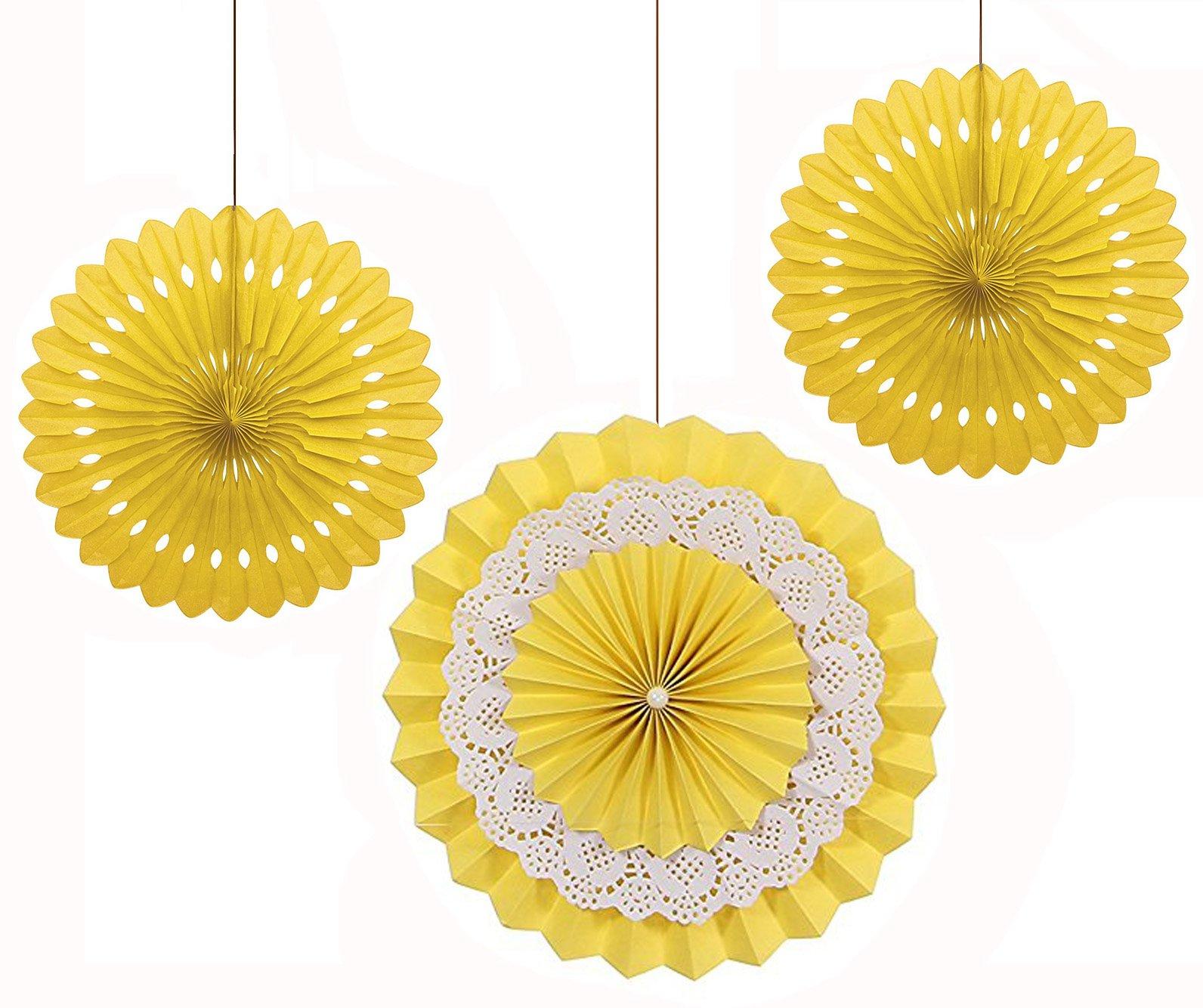 NectaRoy Set di 3 Decorazioni a Ventaglio in Carta per Bambino Decorazione Velina Decorativo Per Ma