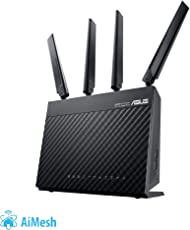 Asus 4G-AC68U AC1900 LTE WLAN-Router (Wi-Fi 802.11ac, SIM Slot, LTE Cat. 6 bis zu 300 Mbits, AiProtection)