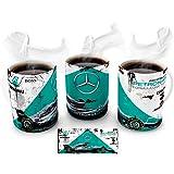 Mugtime (TM) - Retro F1 Petronas Mercedes Benz Formula 1 Oil Can car Coffee Tea Mug Ceramic Cup - 330ml 11oz