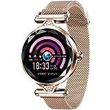 Smart Watch pour Femme, Fulltime® Sport Montre Connectée Pression artérielle moniteur Cardiofréquencemètre Pédomètre Bracelet (Or rose)