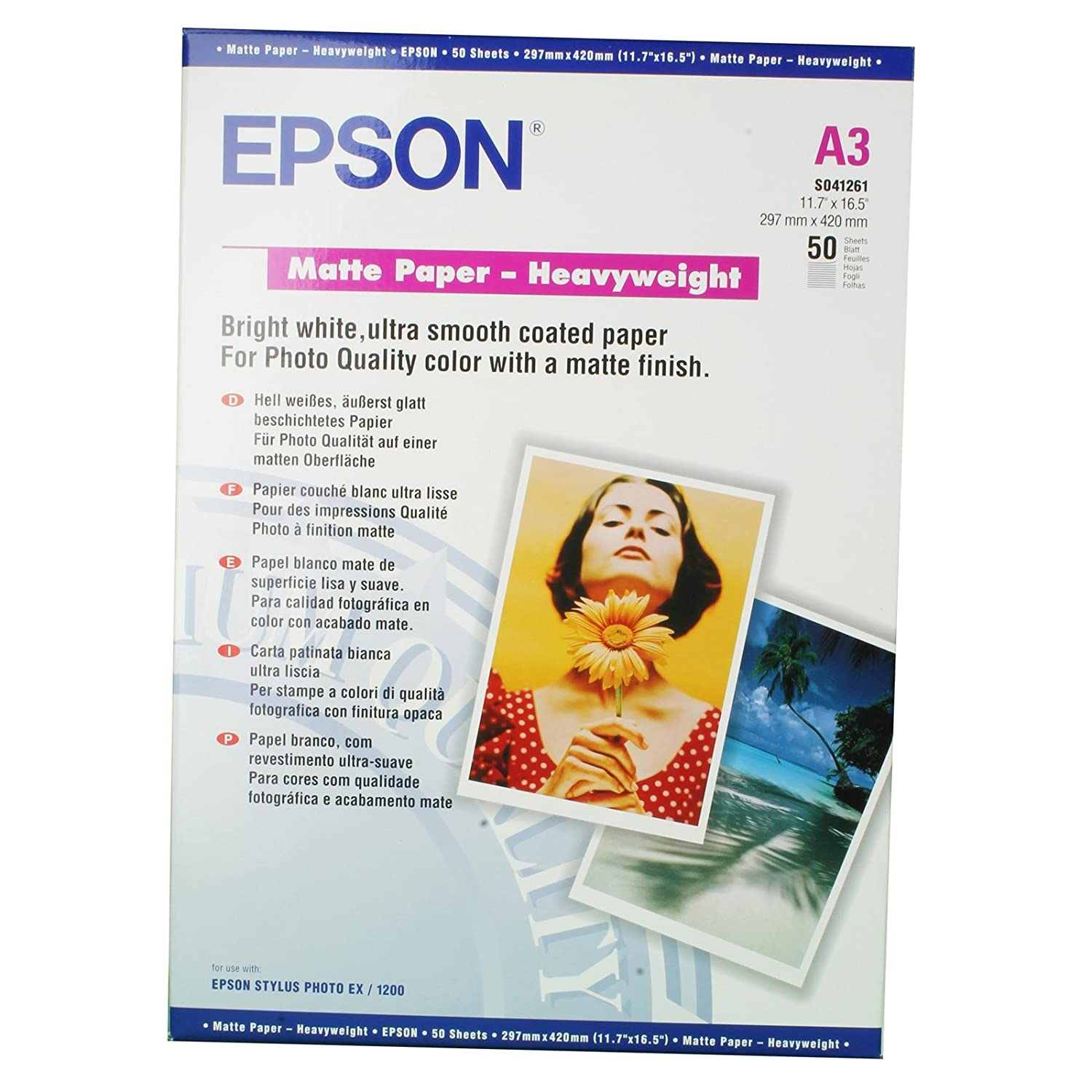 Epson Supplies Paper A3 Matte Heavyweight Amazoncouk Office Products