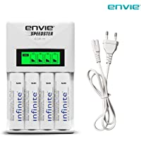 ENVIE Charger for AA & AAA Rechargeable Batteries (ECR11+AA2100 RTU 4PL)
