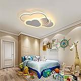 SENQIU Plafonnier Nuage,32w Lampe de Plafond LED Créatif avec Dimmable Télécommande 3000-6500k 2800lm L42*H6cm, éclairage de