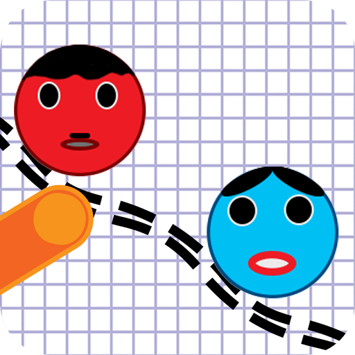 Ball Link Red and Blue Physics Draw -