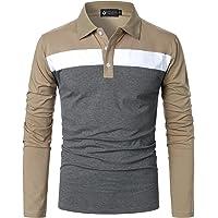 STTLZMC Polo Manica Lunga da Uomo Tennis T-Shirt Gentiluomo Ricamo Tops …
