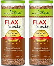 NourishVitals Roasted Flax Seeds - 200 Gm - Pack Of 2