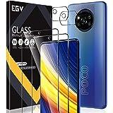 EGV Compatible avec Xiaomi Poco X3 Pro/Xiaomi Poco X3 NFC Verre Trempé,2 Pack Film Protection Écran et 2 Pack Caméra Arrière