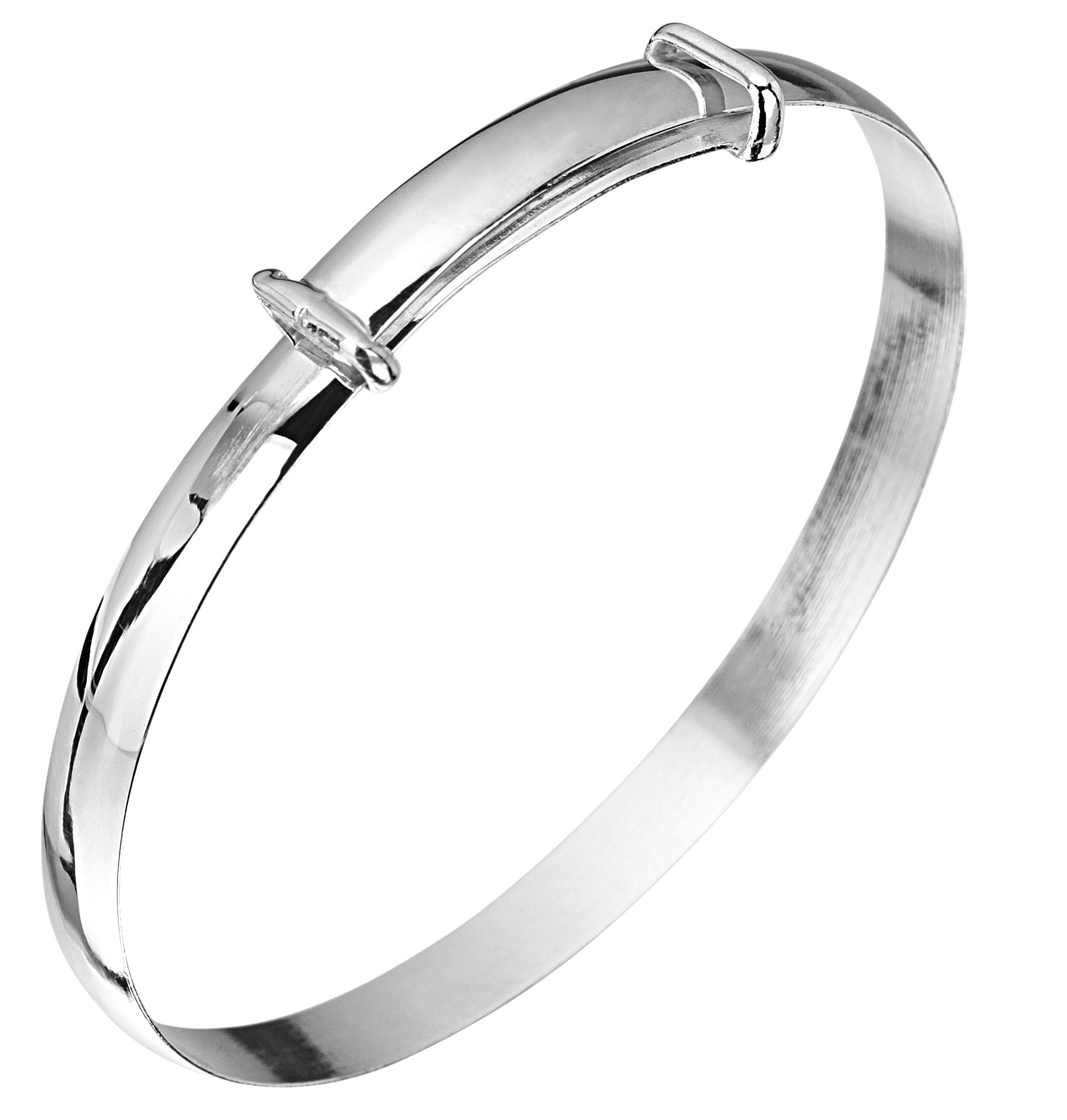 Jo For Girls Silver Plain Expanding Bangle
