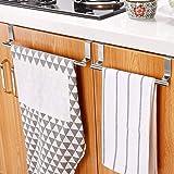 KINLO Set van 2 theedoekenhouders zonder boren, handdoekhouder om op te hangen voor de keuken - handdoekstang van roestvrij s