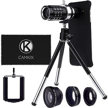 Camera Lens Kit for Samsung Galaxy S6 Edge Plus including: 12x Telephoto Lens, Fisheye Lens, Macro Lens, Wide Angle Lens, Tripod, Phone Holder, Holder Ring, Hard Case, Velvet Bag and Cleaning Cloth (NOT suitable for S6 Edge)