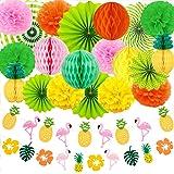 Evance Party dekoration papper pompoms, hängande fack, ananas och flamingo banderoll fest bröllop födelsedag festival jul eve