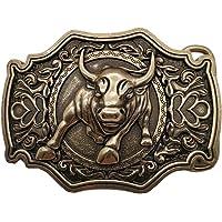 YONE 3D Bull Bronze Belt Buckle Western Metal Cowboy