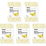 Amazon Brand -Solimo Face Sheet Mask, Banana, Pack of 5