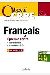Objectif CRPE Épreuve écrite de français Broché