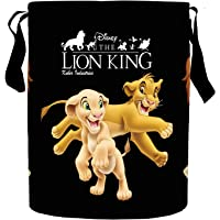 Kuber Industries Disney Lion King Print Round Non Woven Fabric Foldable Laundry Basket, Toy Storage Basket, Cloth…