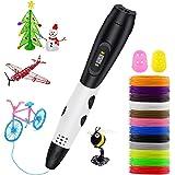 Lovebay Stylo 3D Professionnel 【2020 Nouveau Cadeaus】, 3D Pen kit 12 Multicolores Filament PLA Φ1,75 mm, Stylo 3D pour…