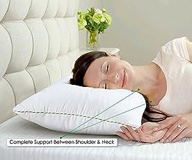 Spread Spain Micro Fibre Tencel Pillow(18x27-inch, White)