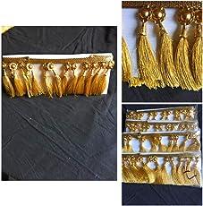 XLdreams 1.20 meter Gold Color Beautiful Saree Kuchhu