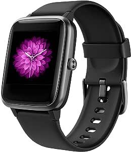 Smartwatch per Uomo Donna, Orologio Fitness Activity Tracker Bluetooth 5.0 Impermeabile 5ATM Touch Screen Controllo della musica Cardiofrequenzimetro da Polso Contapassi per Android iOS Samsung Huawei