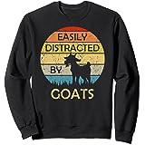 Facilement distrait par les chèvres rétro vintage et drôle Sweatshirt