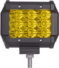 AllExtreme 9 LED Fog Light Cube Bar with Spot Flood Beam for Motorcycle, Car and Bike (Yellow, Pack of 1)