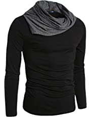 Fashion Gallery Tshirts for Men|Full Sleeve Cowl Neck Tshirts|Men's Regular Fit Cotton Tshirt