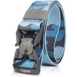 LumiSyne Cintura Tattica Uomo Fibbia a Sgancio Rapido Magnetica Mimetica Classico Cintura Militare Liberamente Regolabile Cin