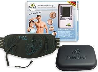 SaneoLINE Sport-Bundle - SaneoSPORT + SaneoSHAPE + Case, EMS & TENS Elektrostimulator zum Training z.B. der Bauchmuskel Bizeps Tripes Beine Po Oberschenkel Arme