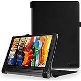 FINTIE Étui Housse pour Lenovo Yoga Tab 3 Pro/Yoga Tab 3 Plus 10 Tablette 10.1 - Folio PU Cuir Protection Coque Haute Qualité Case, Noir