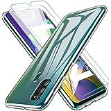KEEPXYZ Funda para Samsung Galaxy M21 Silicona Transparente TPU Antigolpes + 2 Pcs Protector de Pantalla para Samsung Galaxy