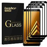 ivoler [3 Unidades] Protector de Pantalla Compatible con Samsung Galaxy A8 2018, [Cobertura Completa] Cristal Vidrio Templado