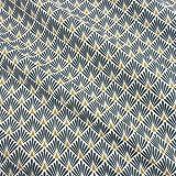 Werthers Stoffe Stoff Meterware Baumwolle Indigo Raute