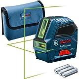 Bosch Professional lijnlaser GLL 2-10 G (groene laser, werkbereik: tot 10 m, 3x AA-batterijen, etui) - Amazon Exclusive